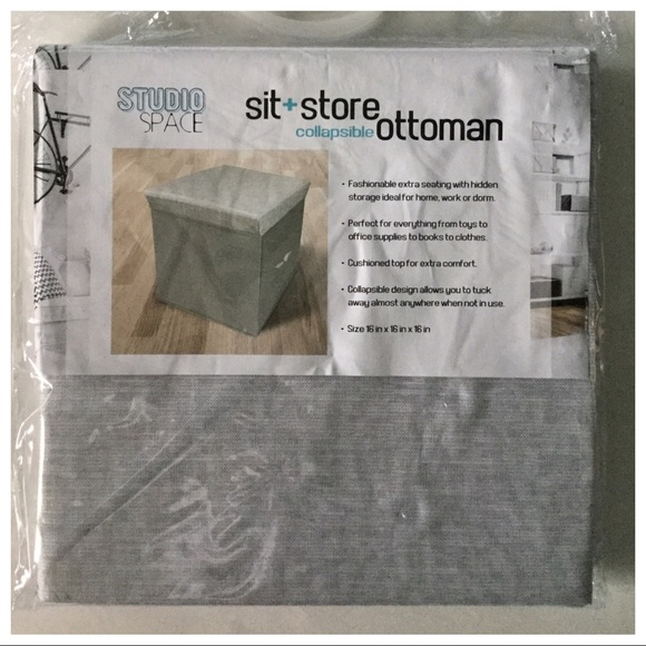 Incredible Sit Store Collapsible Ottoman By Studio Space Machost Co Dining Chair Design Ideas Machostcouk